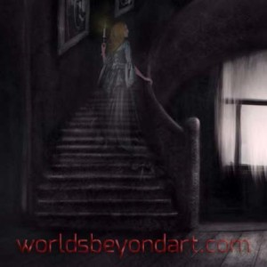 Website Art – Ghost Girl in an Abandoned Room