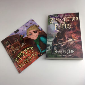The print copies of Sharon Gibbs' books have arrived!
